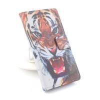 Кожен калъф с тигър за Lenovo A2010