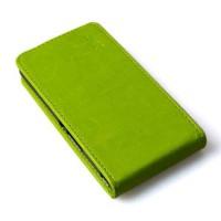 Кожен калъф с вертикално отваряне за Lenovo A2010 - зелен