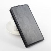 Кожен калъф с вертикално отваряне за Lenovo A5000 5.0-inch - черен