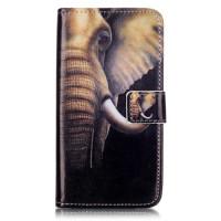 Кожен калъф със слон за Lenovo Vibe K5 Plus / А6020