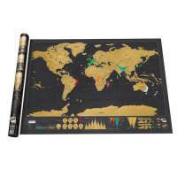 Скреч карта на света Делукс, Размери: 82.5cm x 59.4cm