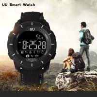 Водоустойчив спортен смарт часовник - черен